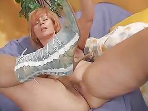 older redhead gang-bangs her loose pussy