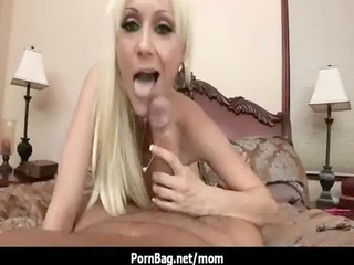 horny mommy with big chest gang-banging really