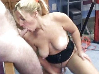 cougar liisa is piercing a device and licking