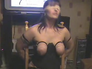 tit whipping my bitch wife