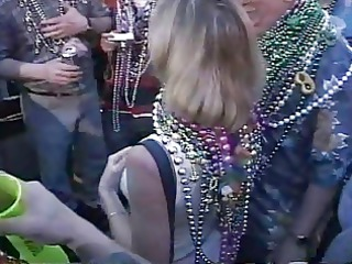 mardi gras lady doesnt want breast sucked