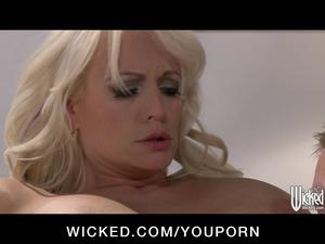 wonderful blond woman stormy daniels takes