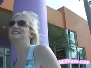 super blonde woman goes to hotel with