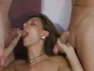 gorgeous german milf twofold teamed