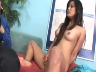 asian mother and daughter share cock