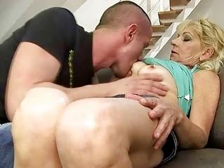 gorgeous grandma drilling with her fresh boyfriend