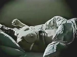 hidden cam on milf. fisting inside the night