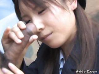 japanese momo aizawa gives an outside fellatio