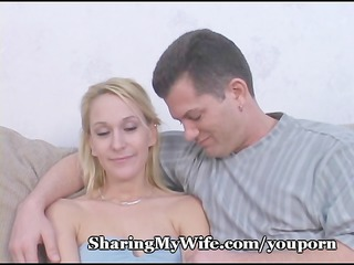 hot wife gets jizz bath