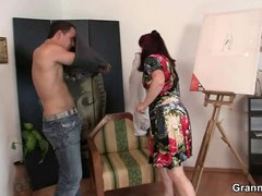 cougar paintress gets it from behind