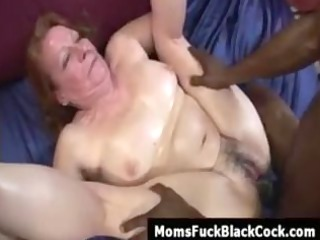 redhead elderly miss nono obtains cumshot from