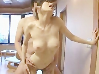 busty japanese woman acquires cum