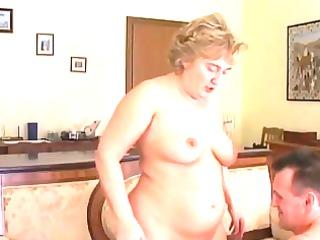 heavy granny into nylons licks and bangs