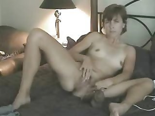 my young wife masturbating for me on bunk