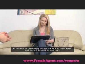 femaleagent. giant boobs casting.