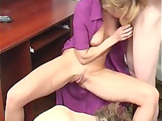 house russian cougar mother with two fuckers