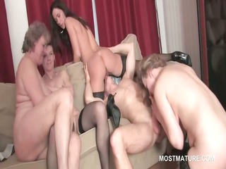 gangbang with mature bitches taking young libido