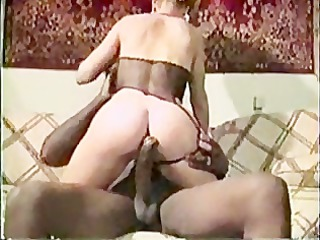 bleached woman vintage interracial bang