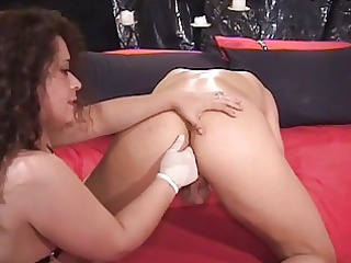 nasty milf brunette piercing hunk with strapon