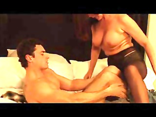 grown-up super lady with amateur lover