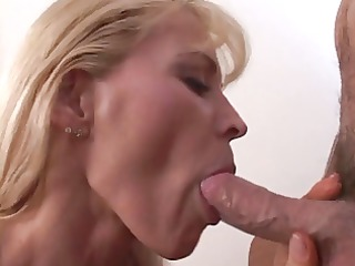 milf nicky moore licks on a stretched fat cock