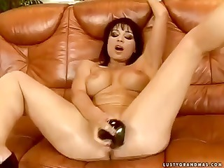 beautiful brunette elderly slut gangbangs inside